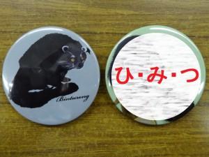 DSC05283缶バッジ2015,2016ひみつ